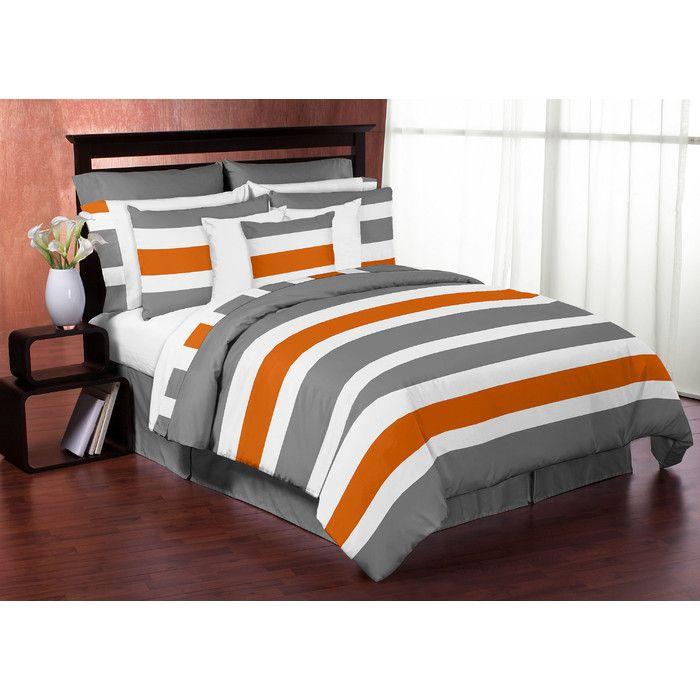 Sweet Jojo Designs Stripe 4 Piece Twin Comforter Set You'll Love | Wayfair