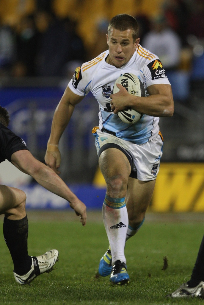 William Zillman of the Titans in action during the round 18 NRL match between the Warriors and the Gold Coast Titans at Mt Smart Stadium on July 8, 2011 in Auckland, New Zealand.