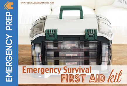 How to Put Together an Emergency First Aid Kit | A Bowl Full of Lemons