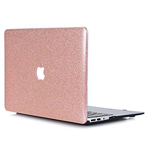"""From 12.99 Macbook Air 13 Casel2w Macbook Air 13.3 Inch Smooth Plastic Hard Shell Protective Case Cover Of Sparkly Glitter Series For Apple Laptop Macbook Air 13"""" Model A1369/a1466 - Rose Golden #maclaptop"""