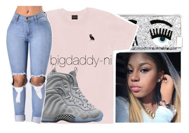 """""""Drake in concert"""" by bigdaddy-ni ❤ liked on Polyvore featuring Chiara Ferragni, October's Very Own and NIKE"""