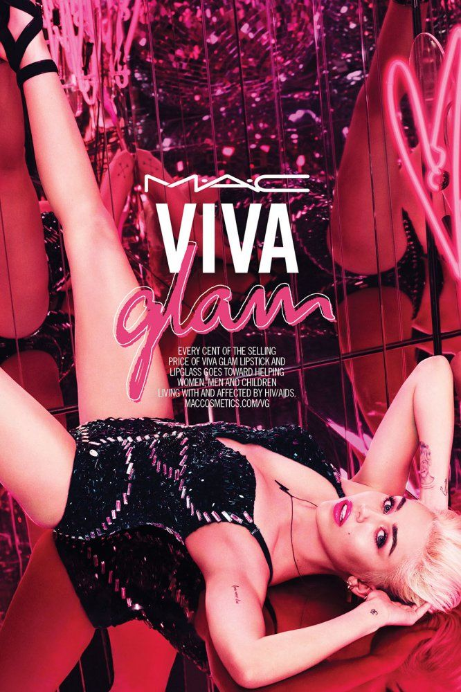 Miley Cyrus' Tongue Makes an Appearance in New MAC Viva Glam Ad. Via @pretapins