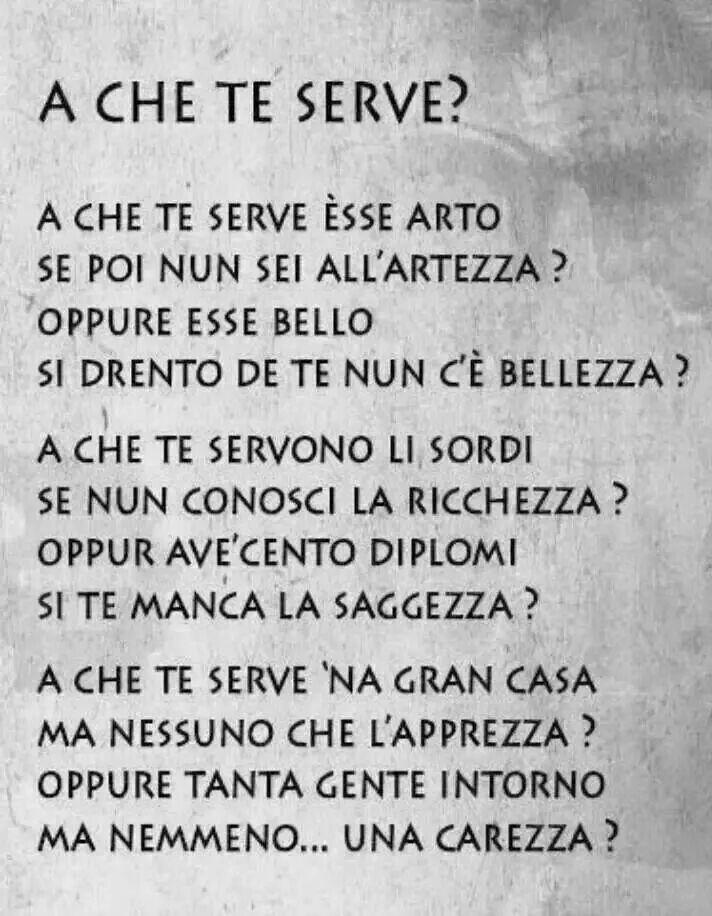 Bellissima poesia in dialetto romano......
