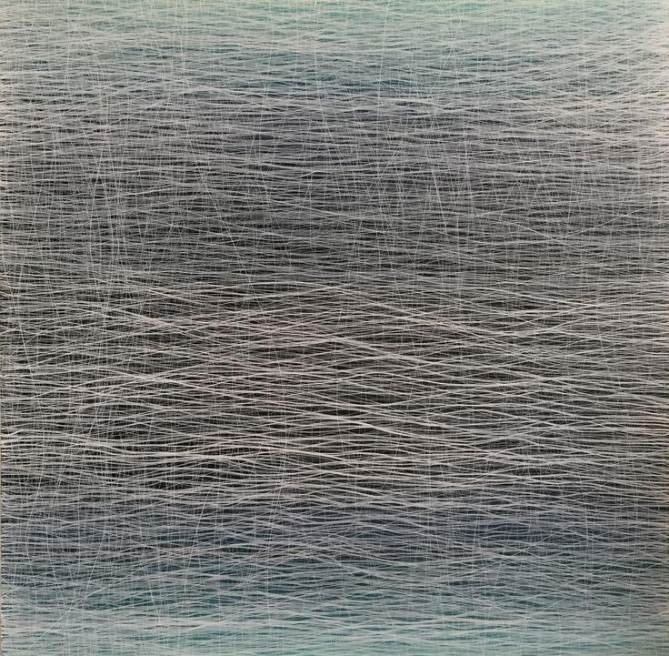 Bernhard Kaeser, Waves, Leinwand, Canvas 100 X 100, Acryl, Abstrakt, Art, Mischtechnik