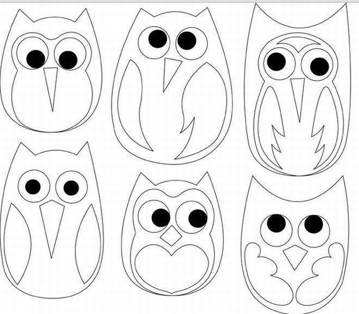 Рисунок для выкройки совы