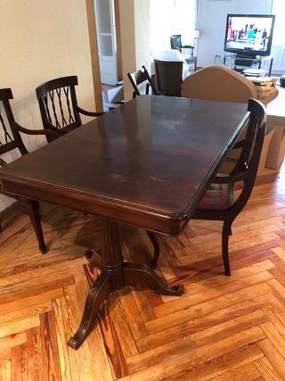 Mesa comedor antigua de madera de segunda mano por 260 € en Madrid ...