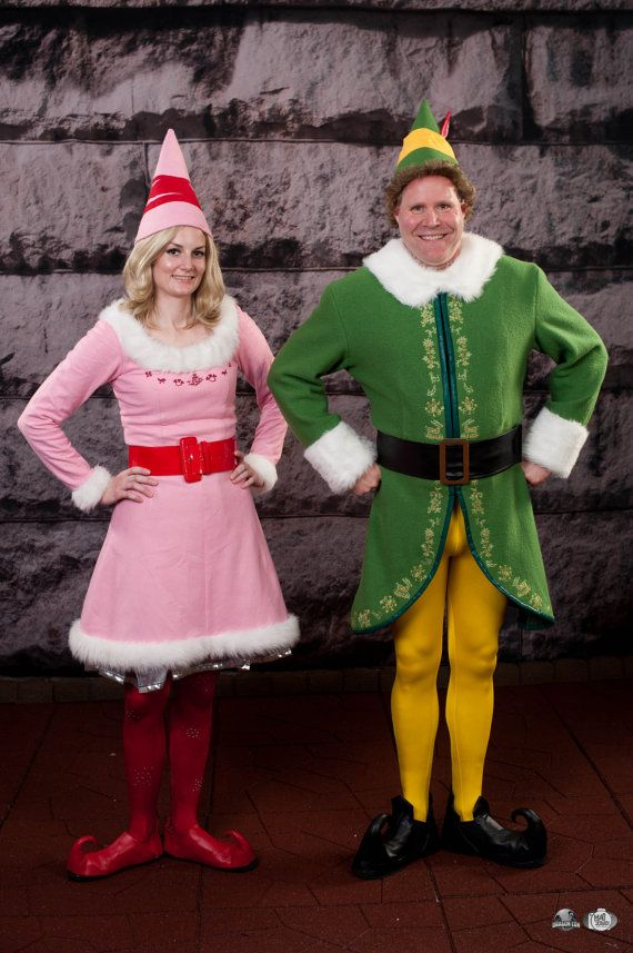 This is the Jovie and Buddy Elf Costumes Custom Made Elf Costumes by MirrorUniverse  I'm determined to modify patterns to make these!!                                                                                                                                                     More