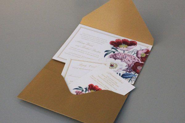 Free Pocket Fold Invitation Template Set