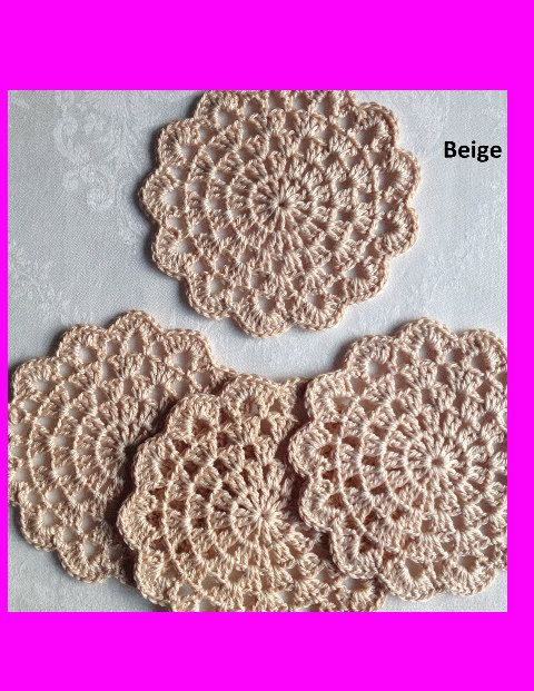 Coaster Doily Set of 4 / Table Linen /Placemat / Doily / Home