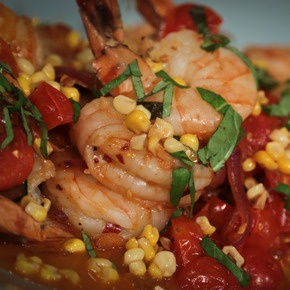 Michael Symon Shrimp Corn and Basil. Delicious light summer meal. fish summer