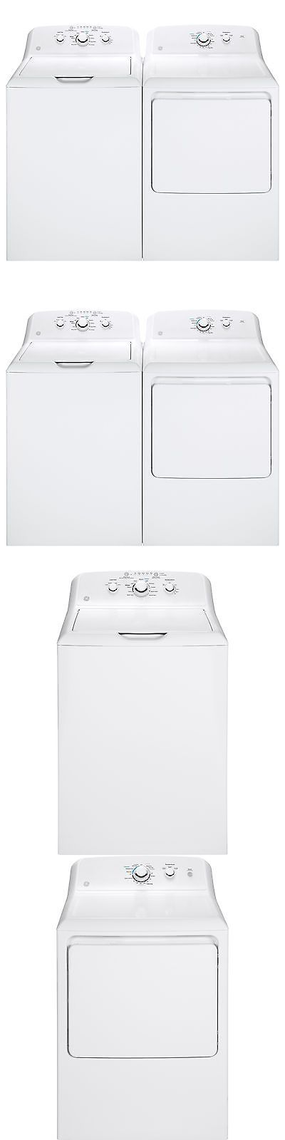 Washer and Dryer Sets 71257: Ge White Stainless Steel Top-Load Washer And Gas Dryer Pair -> BUY IT NOW ONLY: $1428.99 on eBay!