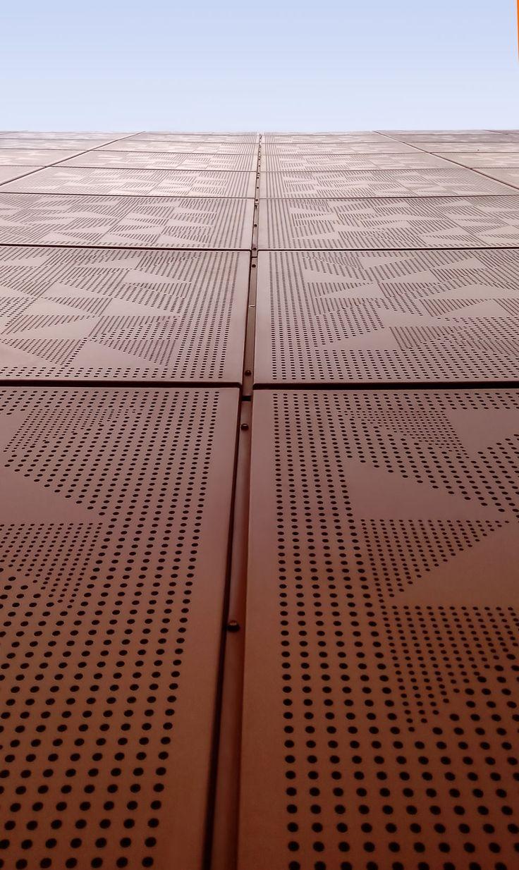 Restaurante Porfirios  Personalized solid aluminum cassette panel by Basica