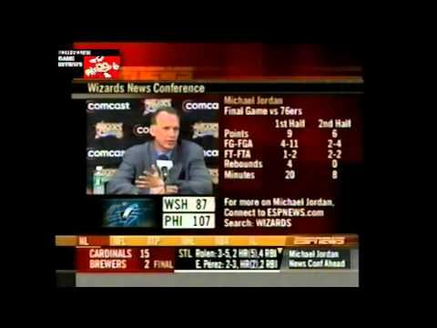 DOUG COLLINS PRESS CONFERENCE REACTING TO MICHAEL JORDAN'S LAST GAME IN ...