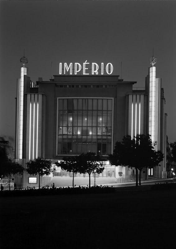 Império cinema, Lisbon. Building designed by the architect Cassiano Branco, 1952. Photo by Estúdio Horácio Novais.