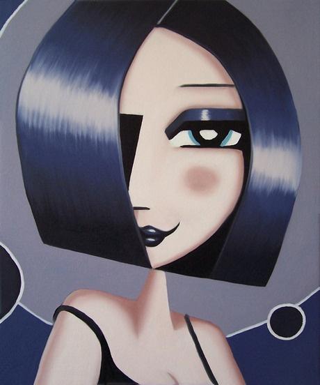 'Sofia'. Fun woman portrait art oil painting by Jeff Lyons