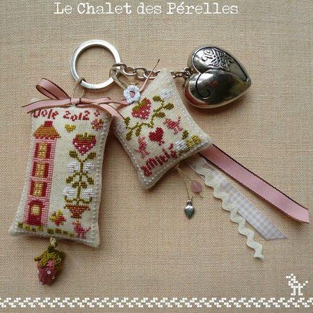Pretty cross stitch trinkets - Le Chalet des Perelles