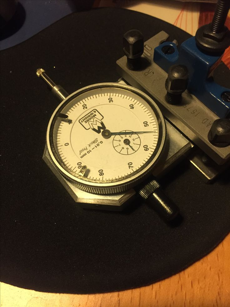 Self made tool post indicator holder for the lathe