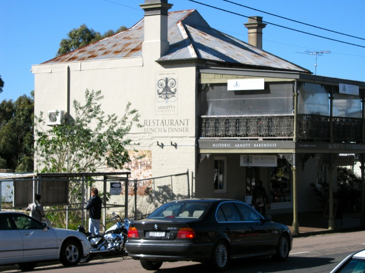 Original Arnott's biscuit factory was at back of this building in Morpeth NSW