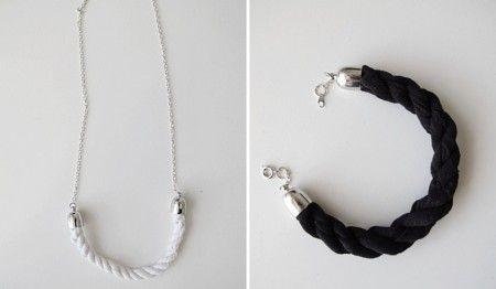 Como hacer collares y pulseras de tela