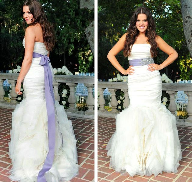 khloe kardashian wedding dress