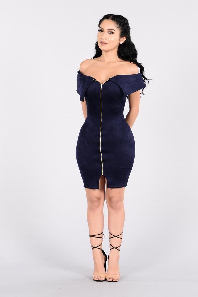 Mrs. Elegant Girl Dress - Navy