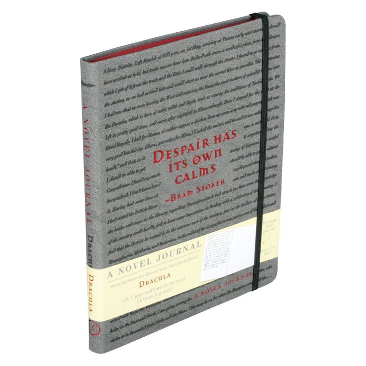 Dracula Novel Journal - GoneReading.com  Now this is pretty cool...the lines on each page are ACTUALLY the entire novel in itty bitty print!