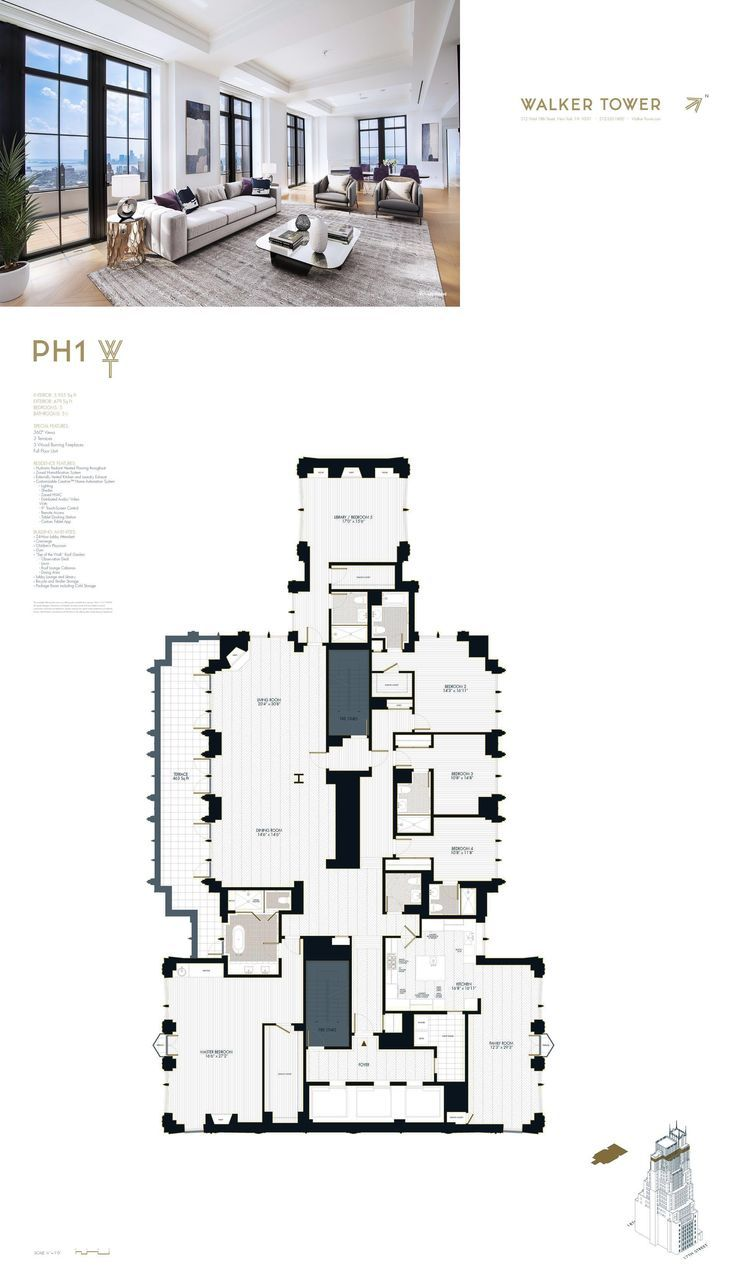 212 West 18th St Penthouse1 New York Ny 10011 Home Building Design Condo Floor Plans Modern Floor Plans