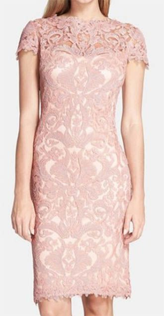 DETAILS: BLUSH LACE DRESS (I'M WEARING COLOR PETAL BLOOM – SLEEVELESS OPTION HERE | SIMILAR UNDER $100 HERE) | GREY CLUTCH (SIMILAR HERE UNDER $40) | PINK PATENT HEELS (SIMILAR HERE | S…