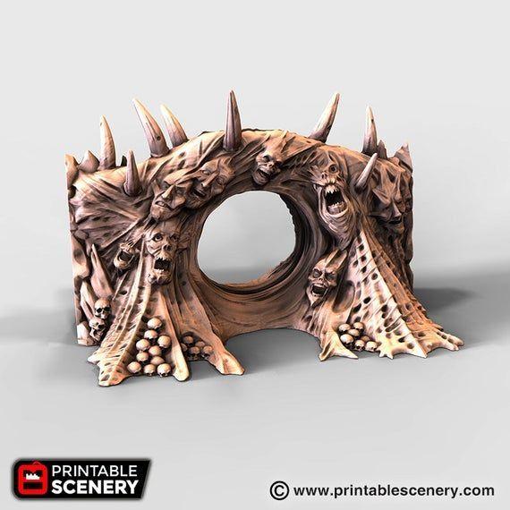 28mm Demons Wargaming Terrain D/&D DnD Warhammer 40k Tormented Scatter