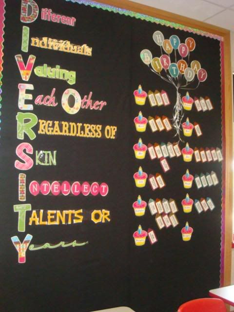 Diversity Bulletin Board... I like the acronym, not the birthday part though