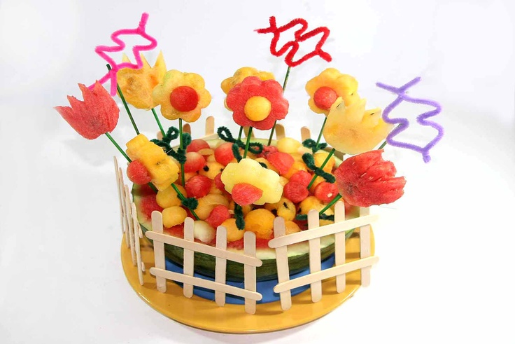 Hehe -- So Cute! Carve a Watermelon Flower Garden via http://www.wikihow.com/Carve-a-Watermelon-Flower-Garden