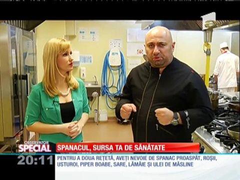 Spanacul e un aliment minune! Chef Cătălin Scărlătescu te învaţă cum să pregăteşti o reţetă delicioasă şi sănătoasă