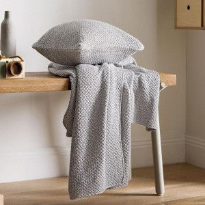 Essery Cobalt Throw and Sqaure Cushion by Sheridan