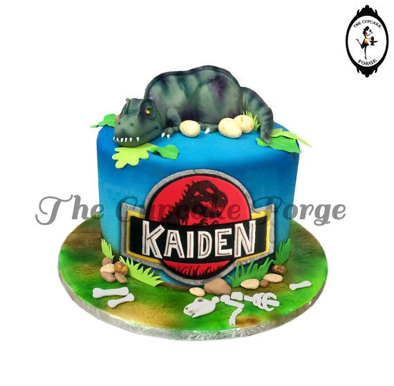 Jurassic cake and dinosaur park cake. This Awesome edible cake decoration kit can be out onto your own home made or store bought cake!!!! Love it