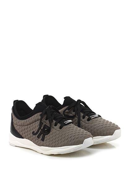 JOHN RICHMOND - Sneakers - Uomo - Sneaker in tessuto tecnico e pelle con suola in gomma. Tacco 35, platform 25 con battuta 10. - TAUPE\BLACK - € 268.00