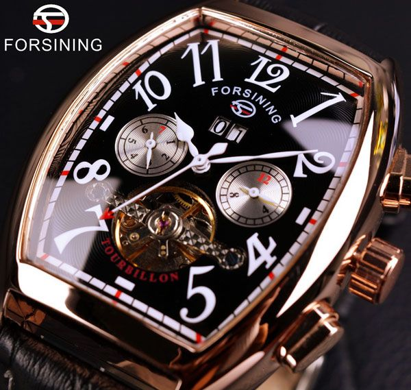 Forsining Rose Gold Case Luxury Official Automatic Watch For Men