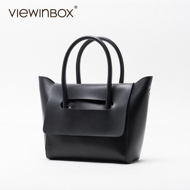 Amazing Price $51.08, Buy Viewinbox Mini Tote Bag Women's Famous Brand Soft Cattle Leather Small Handbags Casual Style Crossbody Messenger Bag