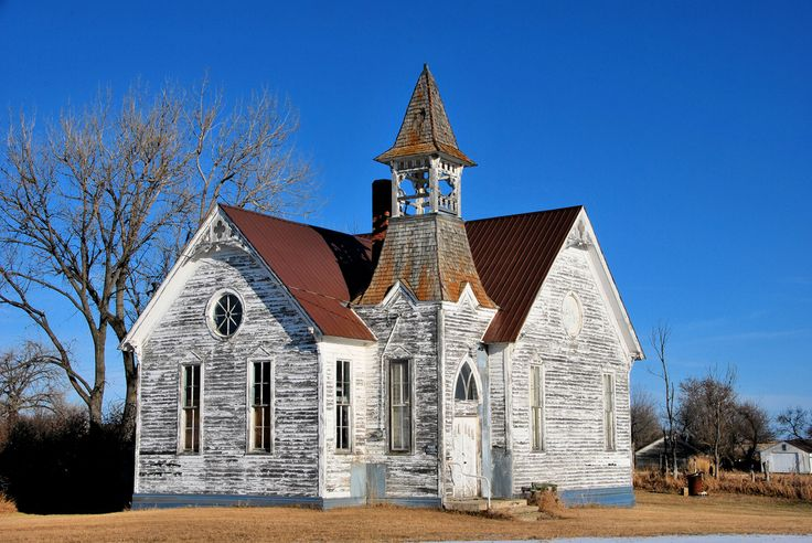 Flora, North Dakota. I would love to flip this church into my home.