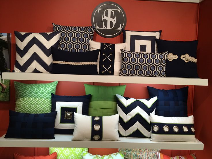 Fabulous indoor/outdoor pillows from Elaine Smith