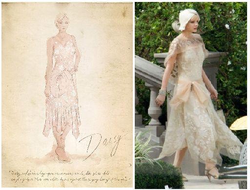 """Carey Mulligan como Daisy Buchanan en """"El Gran Gatsby"""" (2013). Diseño de vestuario: Catherine Martin"""