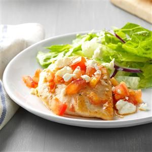 Quick Caesar Chicken with Feta Recipe from Taste of Home