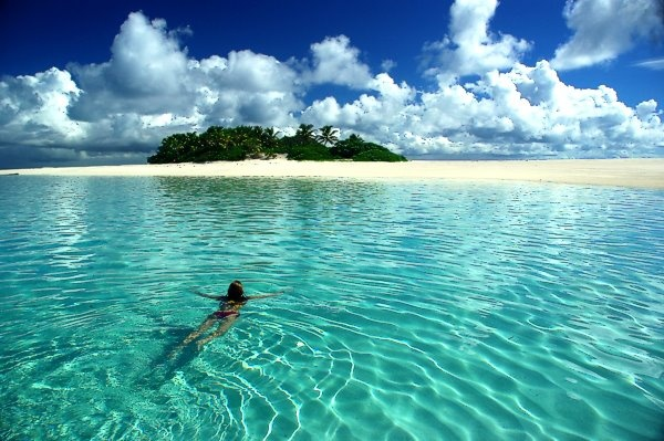Swimming on Tao water, Tonga: