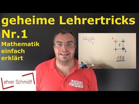 GEHEIM!! Multiplizieren – Die Lehrervariante – geniales Kopfrechnen – superschnell | Mathematik – YouTube – Antje Junker