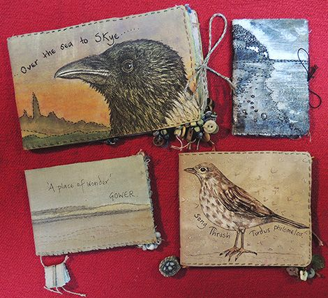 Nature and travel, fabric journals (click to enlarge)