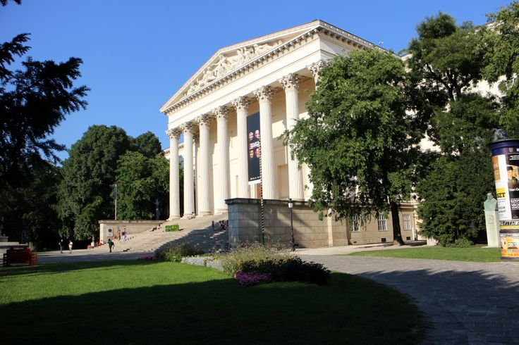 The Hungarian National Museum - a Classicist building designed by Mihály Pollack architect.