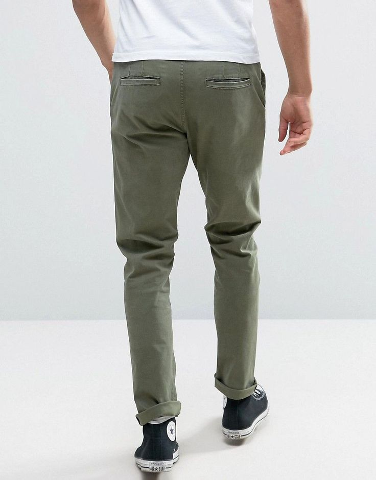 Only & Sons Slim Fit Chinos in Khaki - Green
