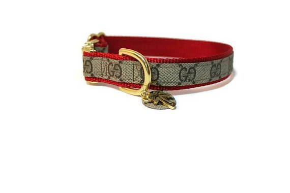 GUCCI Dog Collar w/hang tag Authentic UPCYCLED GUCCI