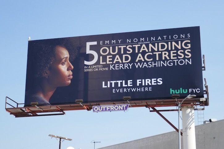 Little Fires Everywhere 5 Emmy Nominations Billboard In 2020 Billboard Fire Kerry Washington