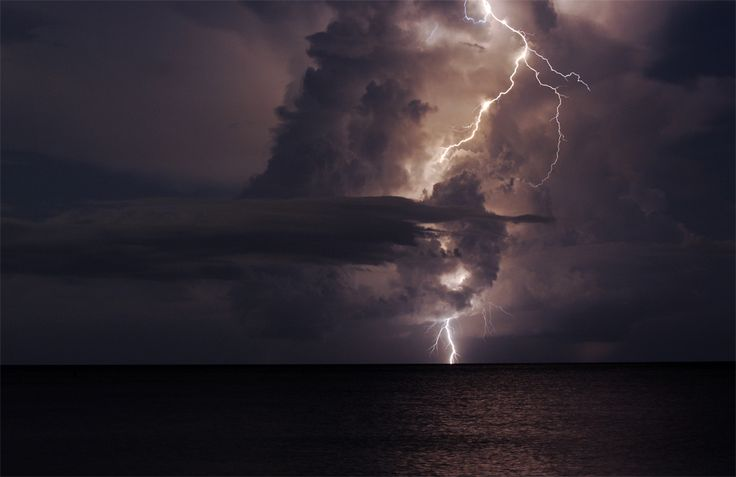 Lightning Over the Gulf of Mexico by Michael Skelton on 500px