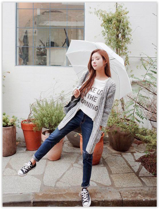 Distressed Tapered Jeans #denim #taperjeans #jeans
